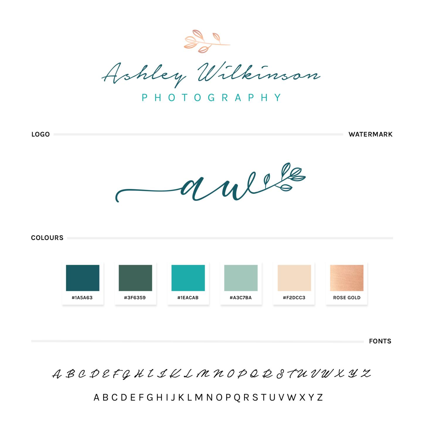 Ashley Wilkinson Photography styleguide