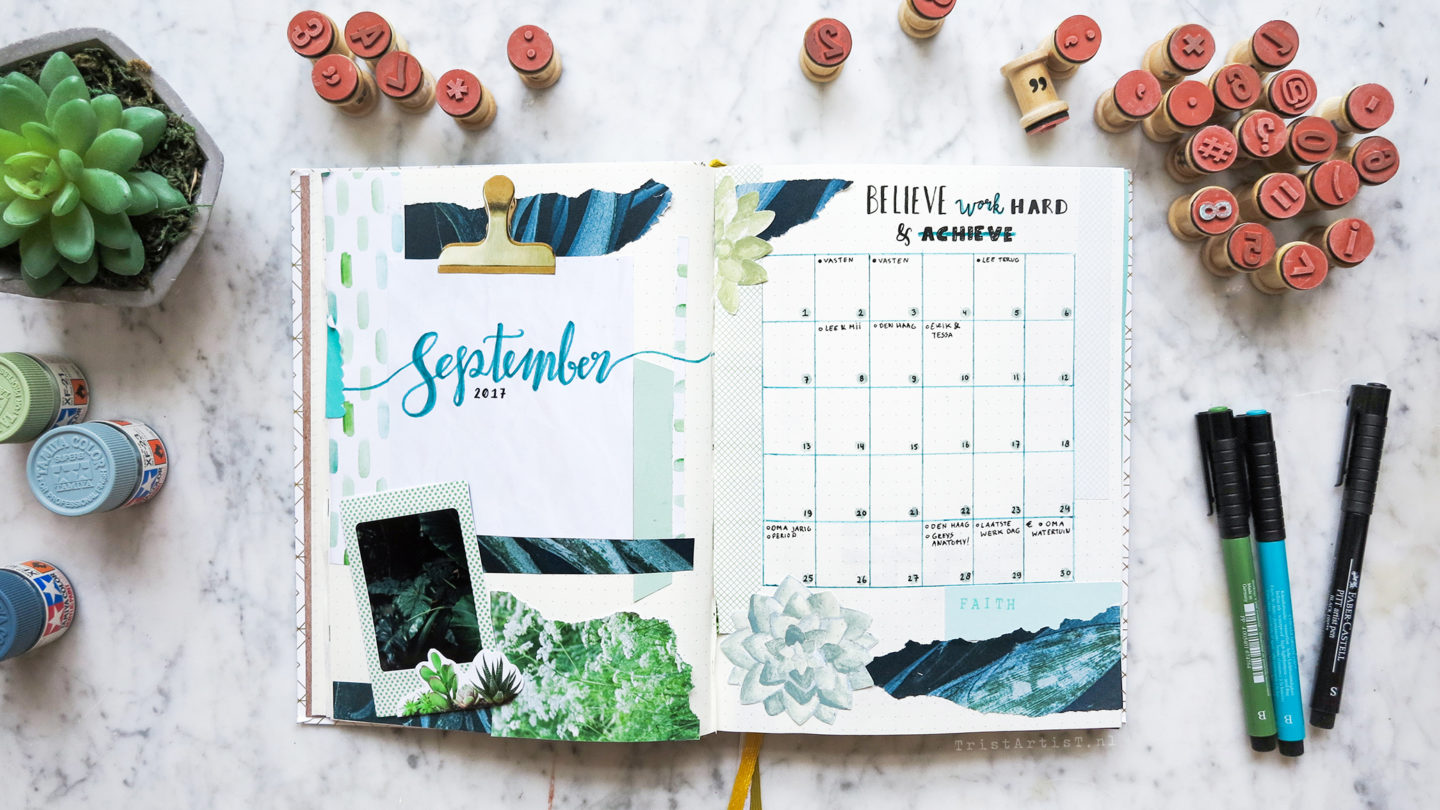 bullet journal september 2017