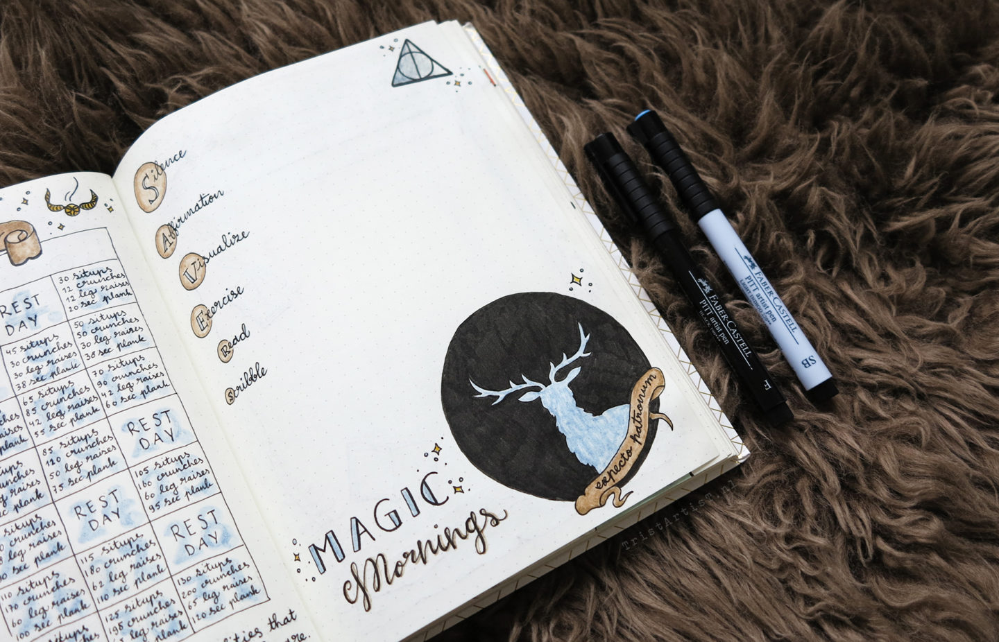 harry potter bullet journal