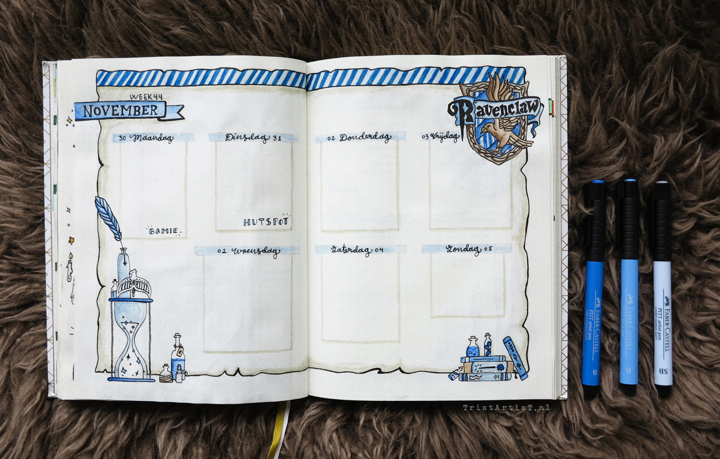 harry potter bullet journal ravenclaw
