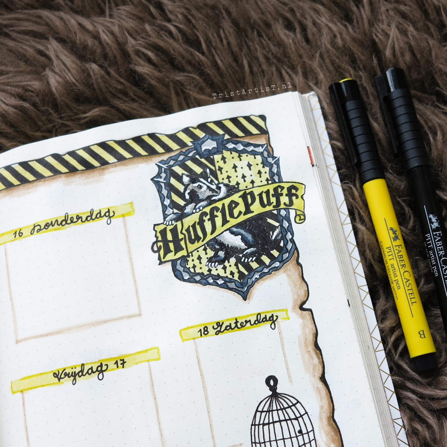 Bullet Journal – Harry Potter Hufflepuff theme