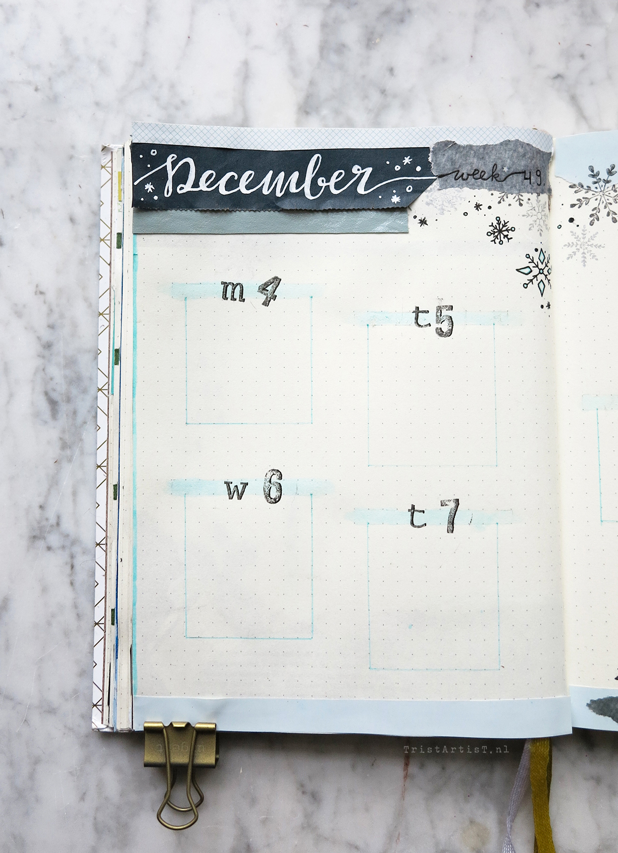 Bullet Journal – Plan with me December 2017 Weekly