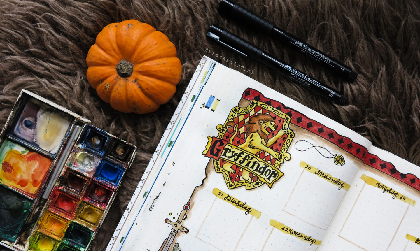 Bullet Journal – Harry Potter Gryffindor weekly