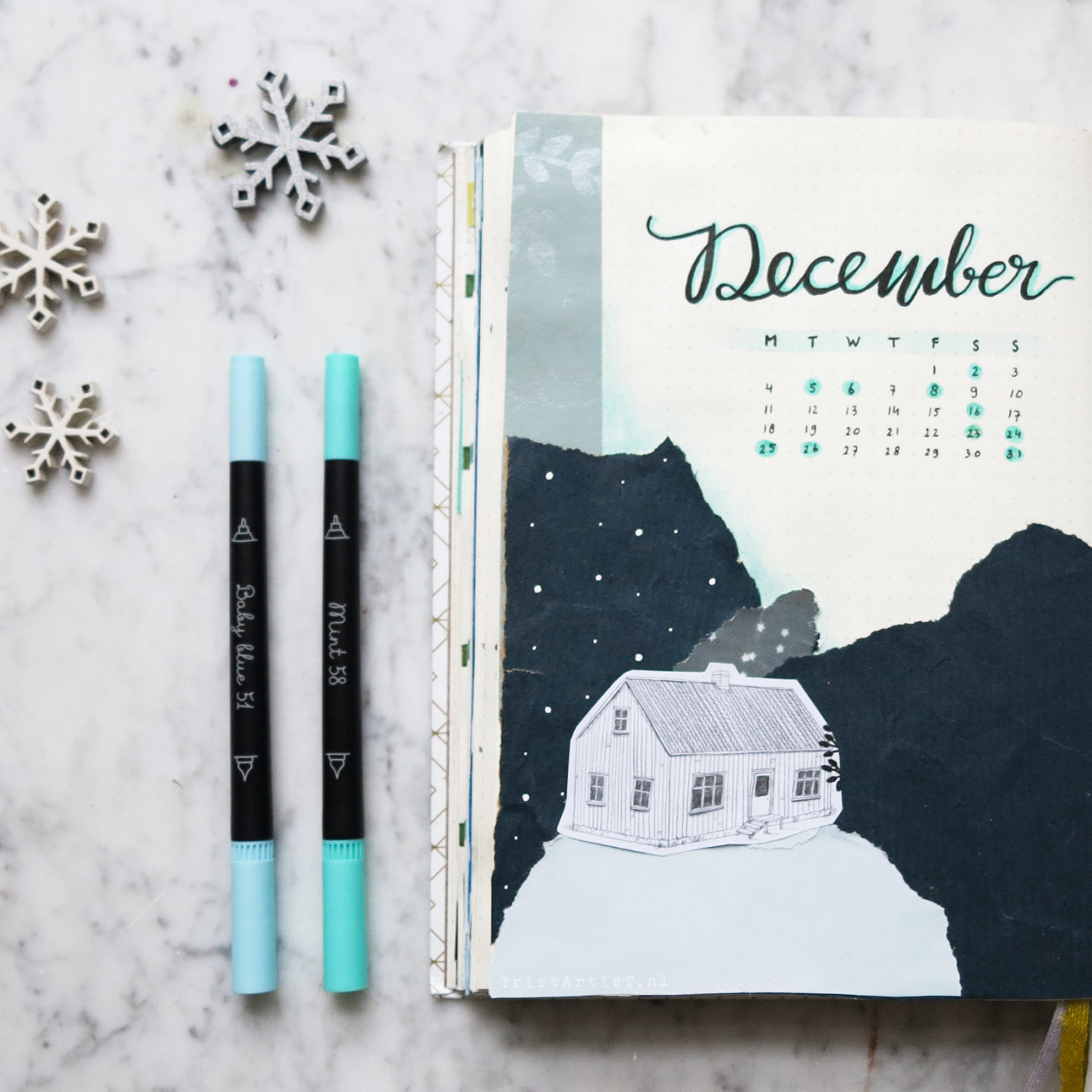 winter bullet journal december