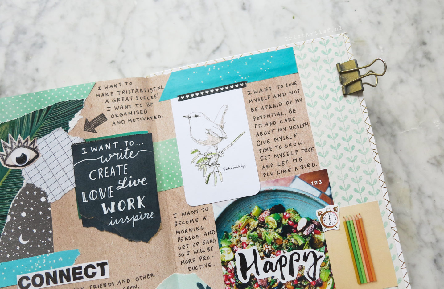 bullet journal vision board
