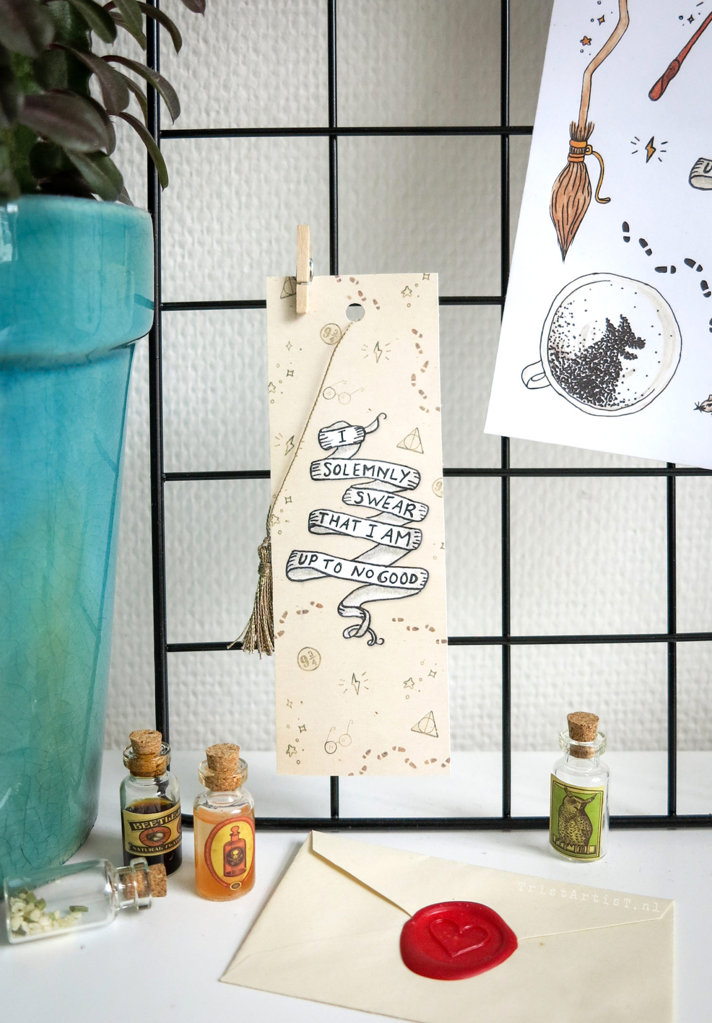 TRISTARTIST SHOP – Harry Potter Bookmark