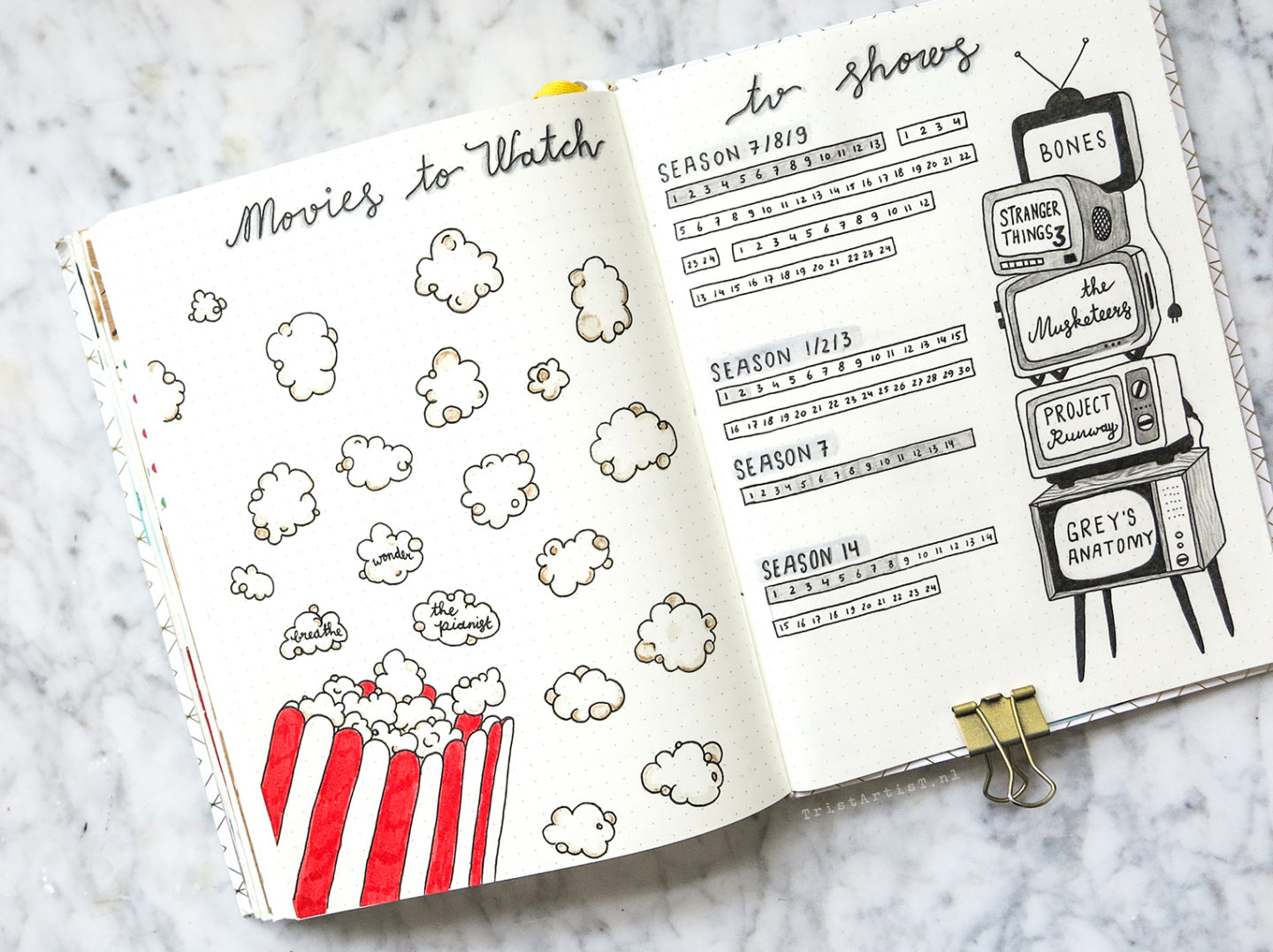 Bullet Journal Pinterest Tried Tv Shows Movies Tristartist