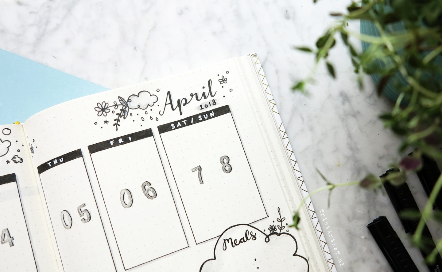 Bullet Journal Plan with me April 2018