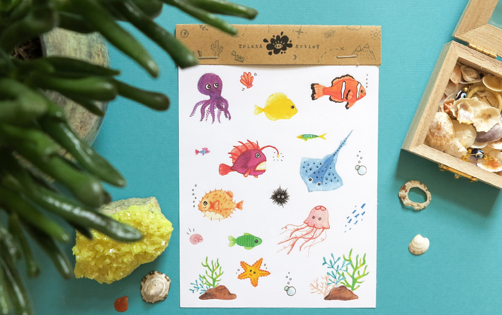 New! Fish Stickers