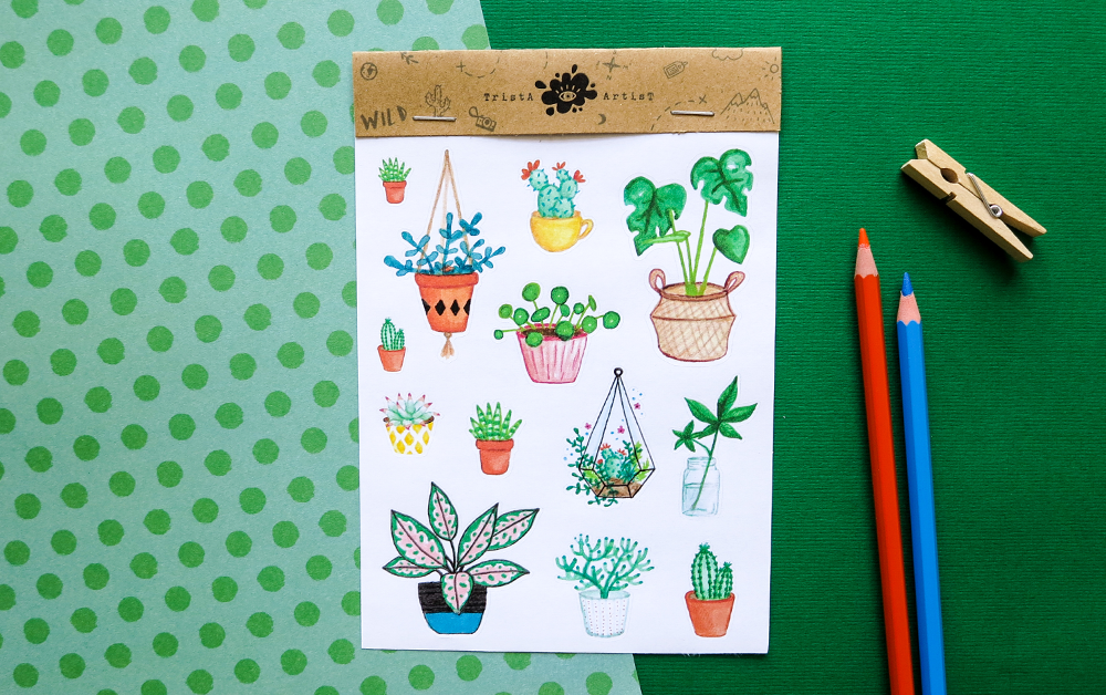 New in the shop – Plant stickers