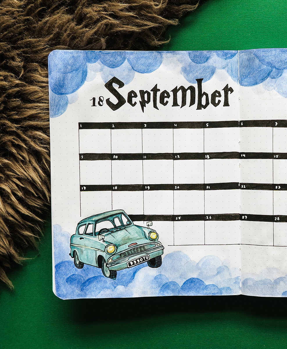 Plan with me September 2018 – Harry Potter Theme – Free Printable