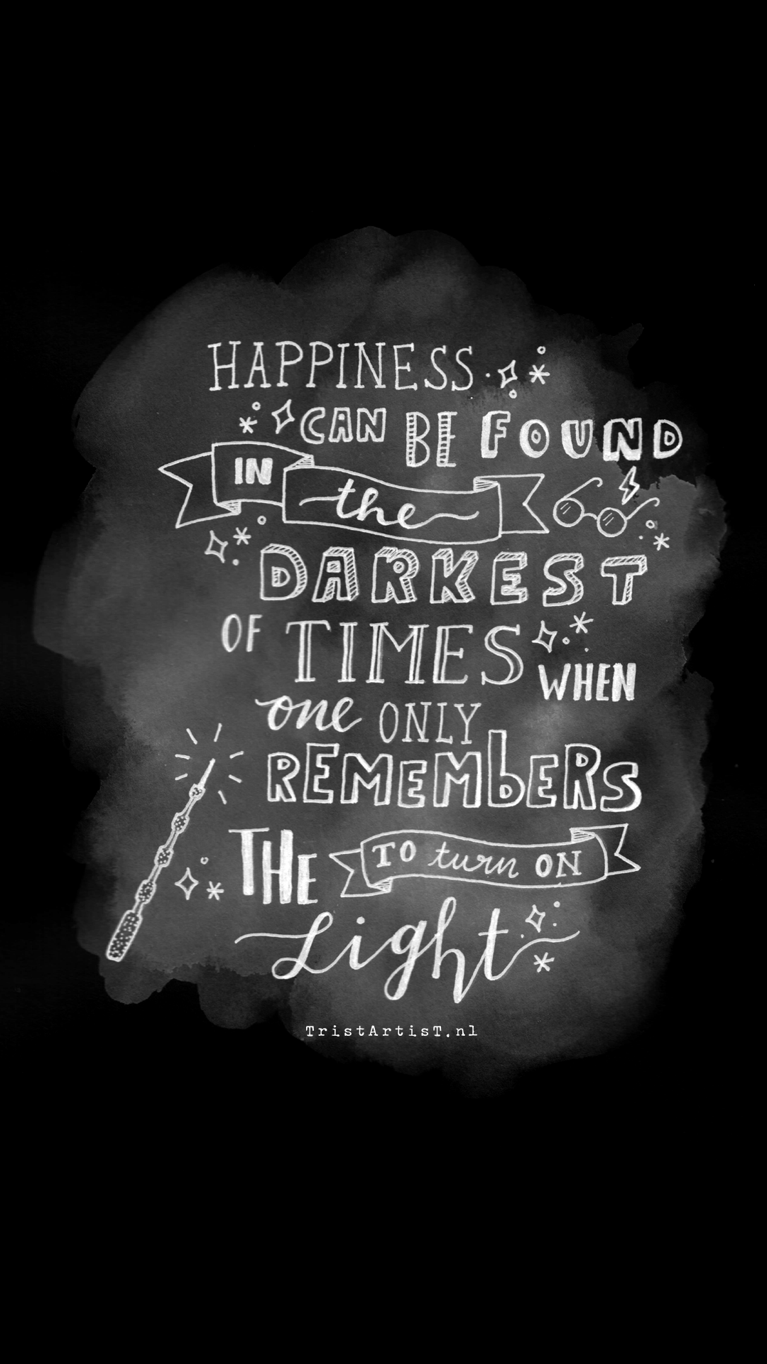 tristartist harry potter quote phone background