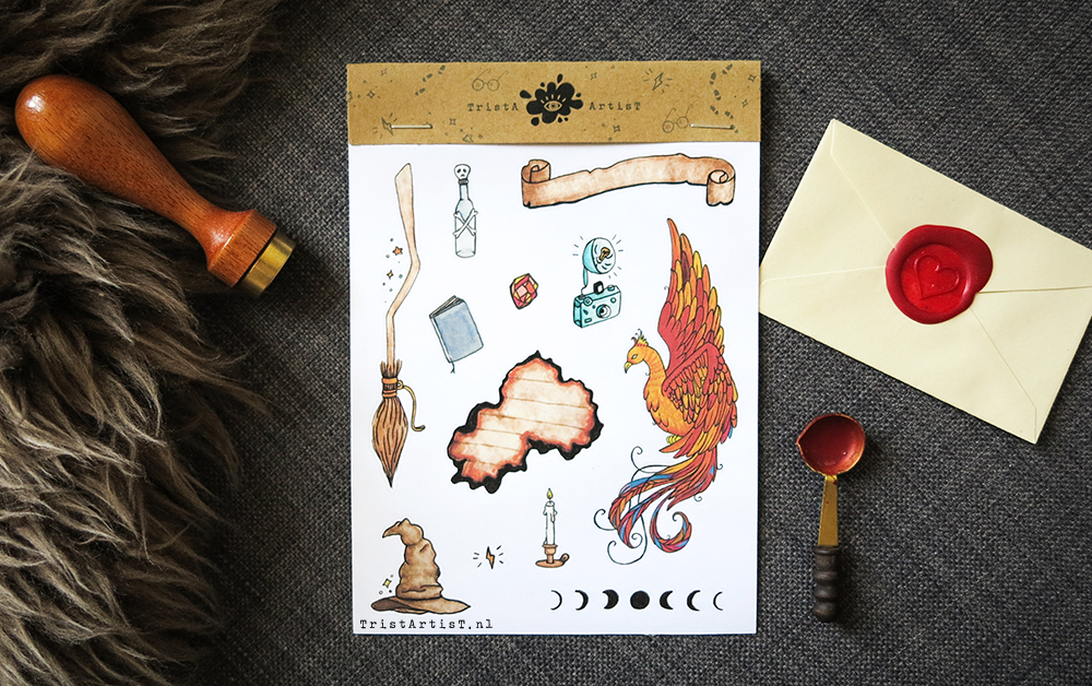 wizard stickers bullet journal
