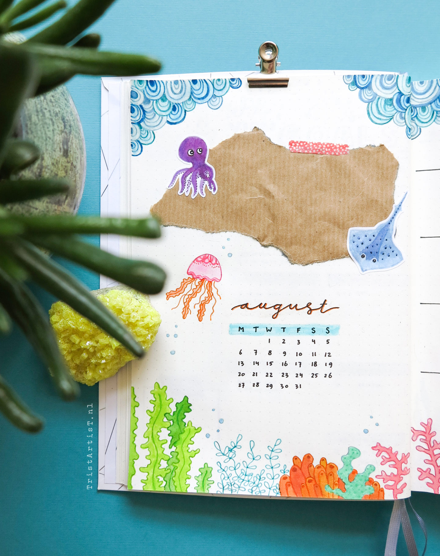 Plan with me August 2018 – Sea Theme – Giveaway