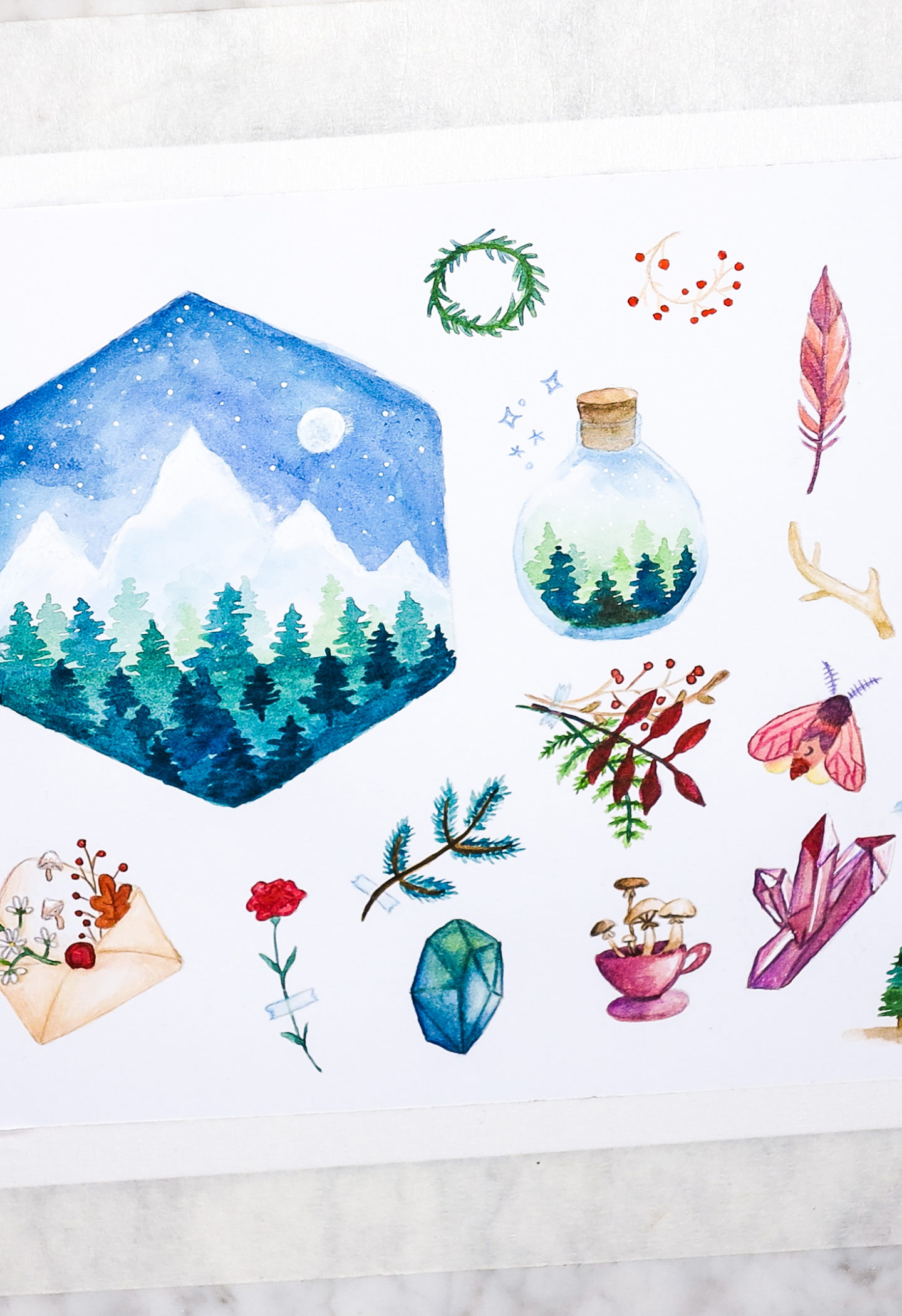 Watercolor With Me ★ Magical Forest