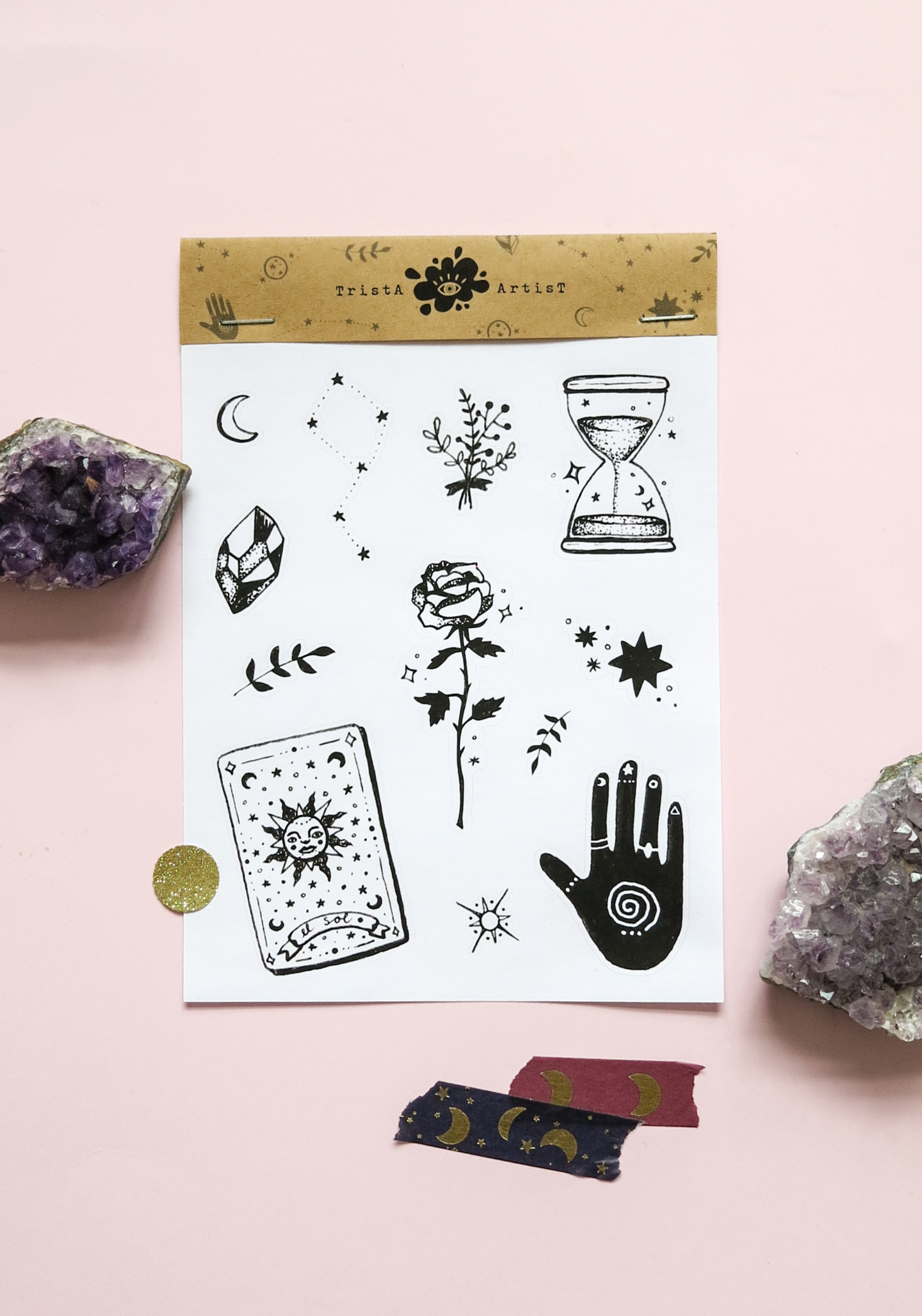 New ★ Fortune Teller Bullet Journal Planner Stickers