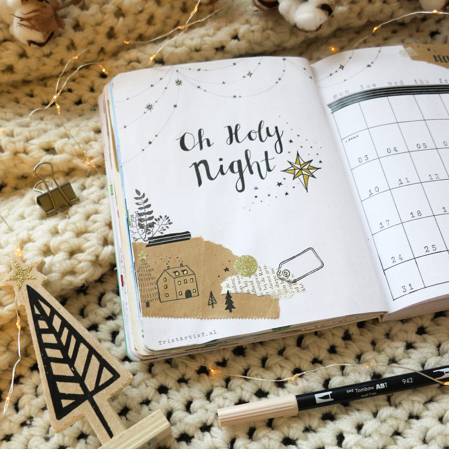 Christmas Bullet Journal December Set Up