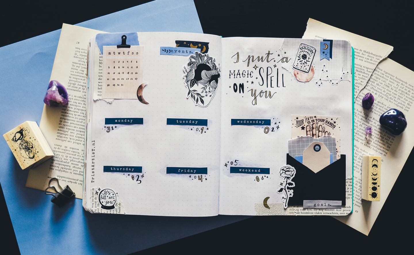 fortune teller january printable stickers bullet journal