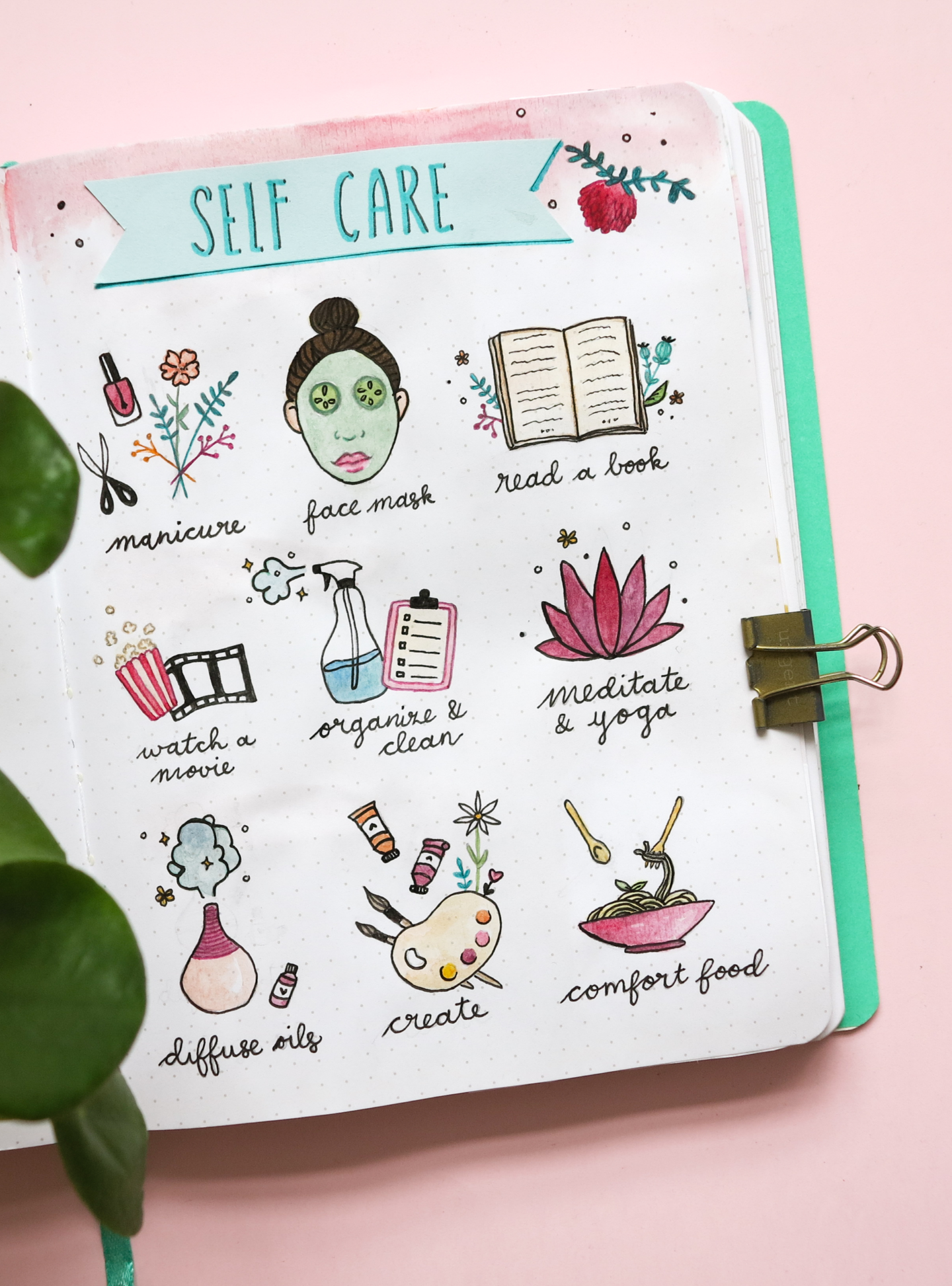 Bullet journal Plan With Me ★ February 2019 ★ Selfcare