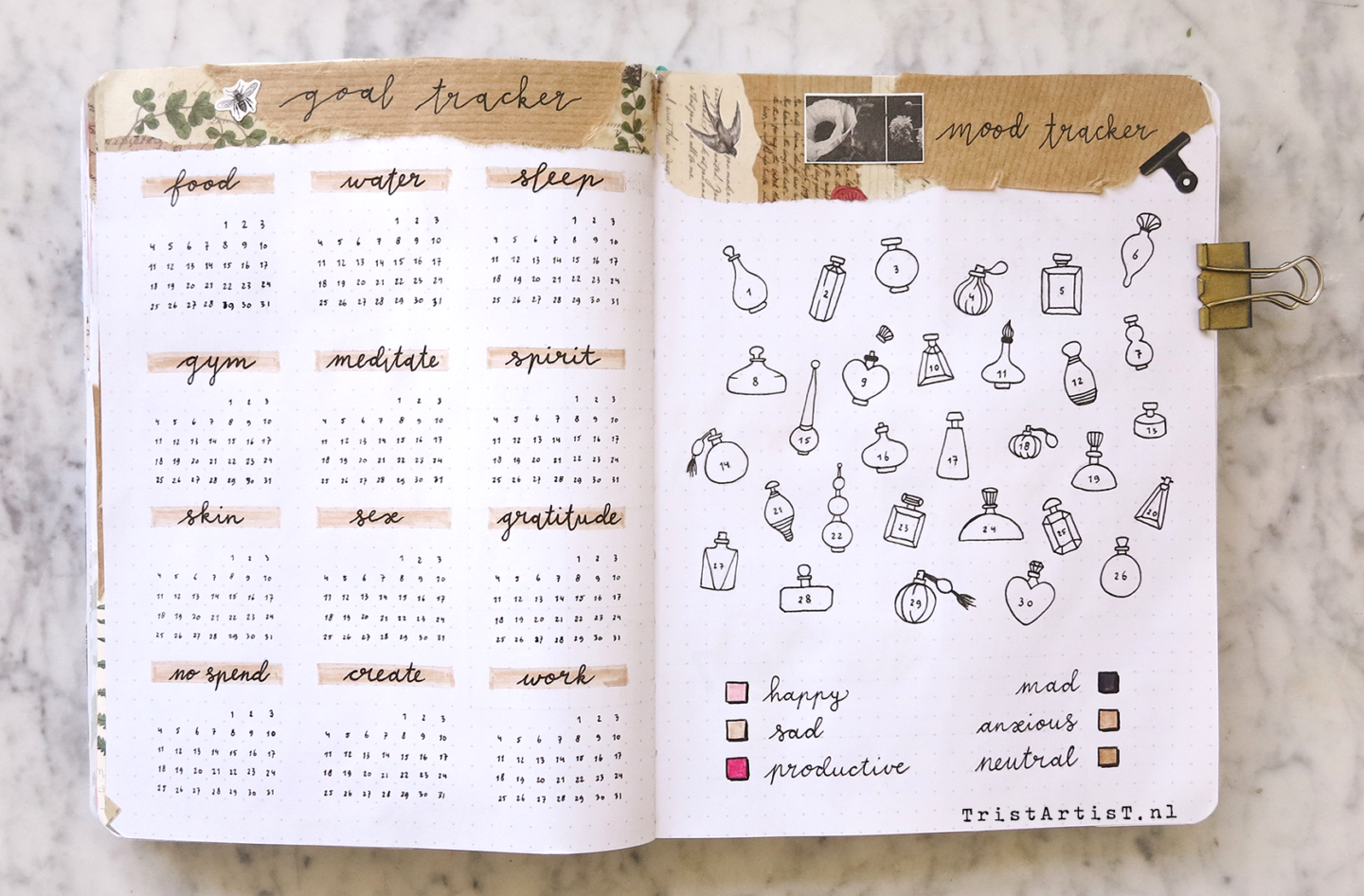 march bullet journal plan with me 2019 01