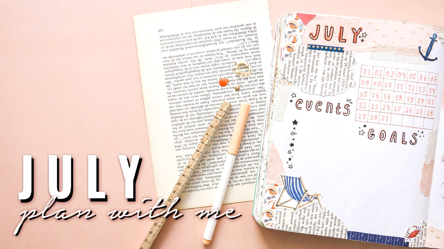 Plan With Me ★ July 2019 ★ Bullet Journal Beach Theme