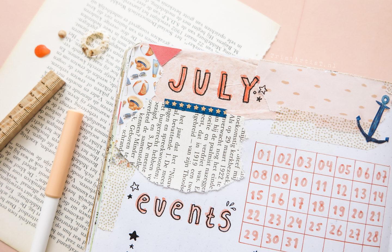 bullet journal july 2019 sailor beach