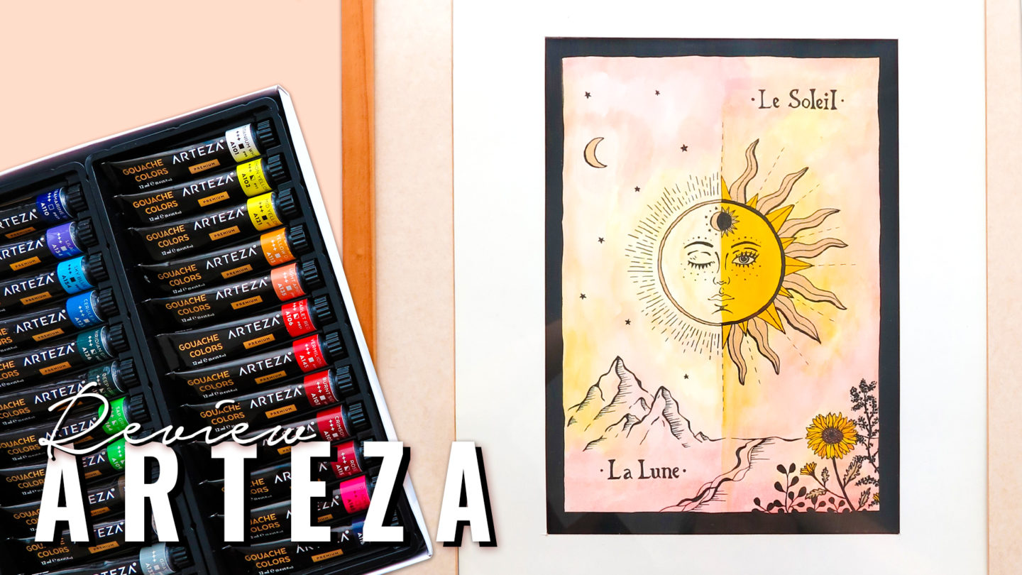 ARTEZA Review  ★ Watercolor & Gouache Tarot Card Painting