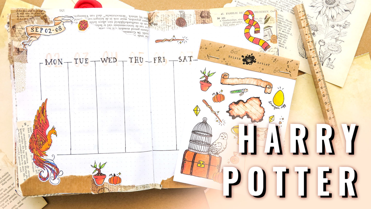 HARRY POTTER ★ HOGWATS HOUSES ★ Bullet Journal WEEKLY 2019
