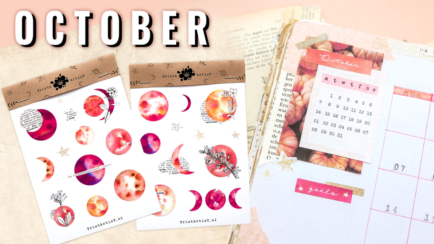 Plan With Me Bullet Journal October 2019 ★ PINK MOON