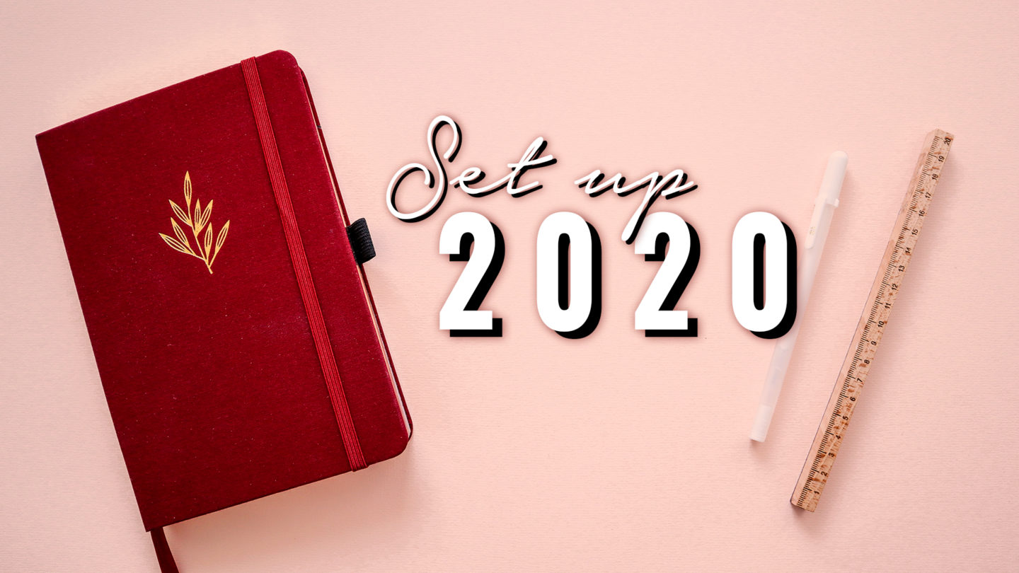 MINIMAL BULLET JOURNAL ★ 2020 SET UP