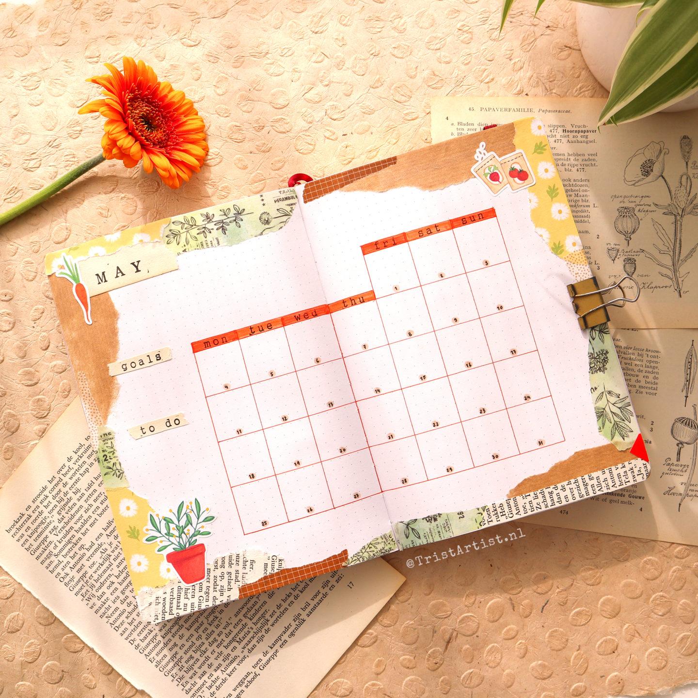 may 2020 gardening bullet journal