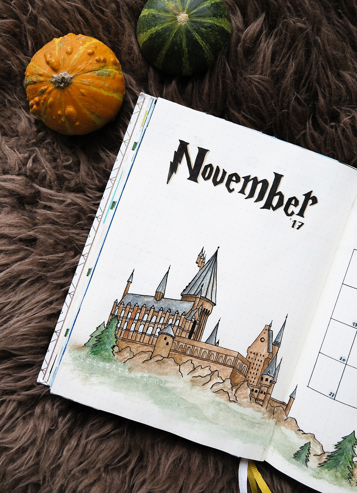 Bullet Journal – Harry Potter Monthly Theme + STICKERS!