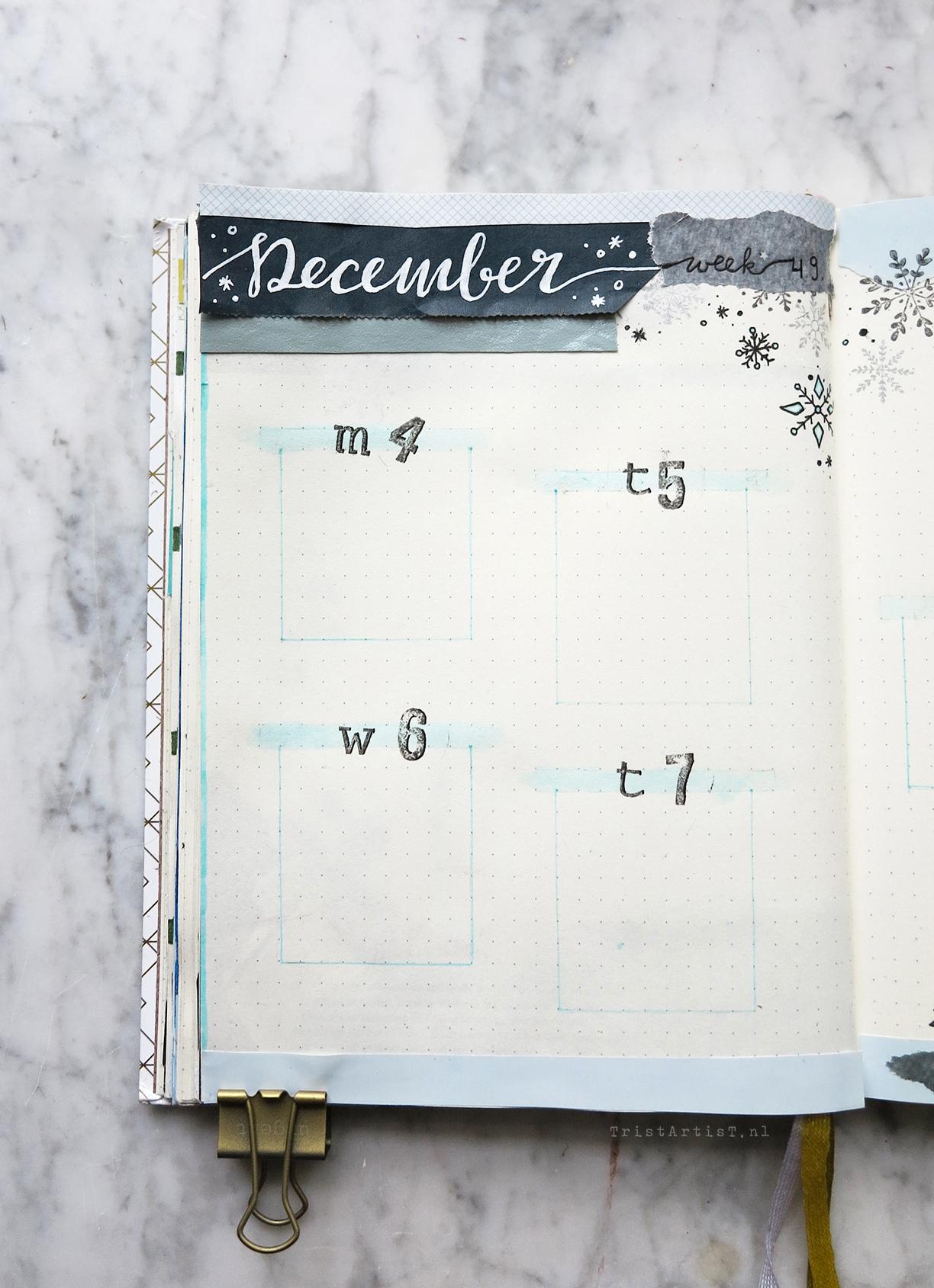 Bullet Journal – Plan with me December 2017 Weekly
