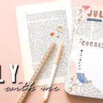 bullet journal theme beach july 2019