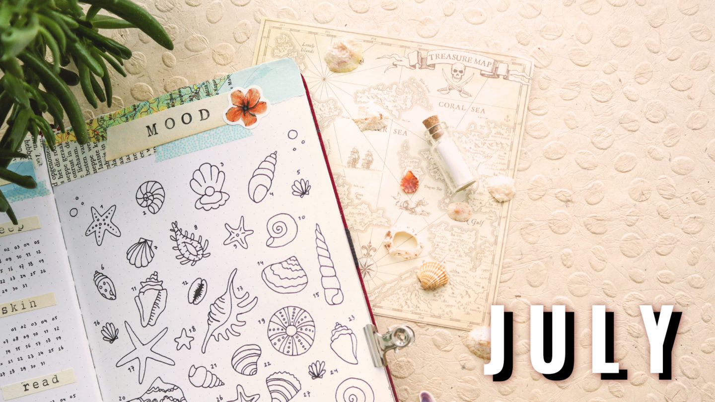 UNDER THE SEA THEME ★ JULY 2020 ★ BULLET JOURNAL
