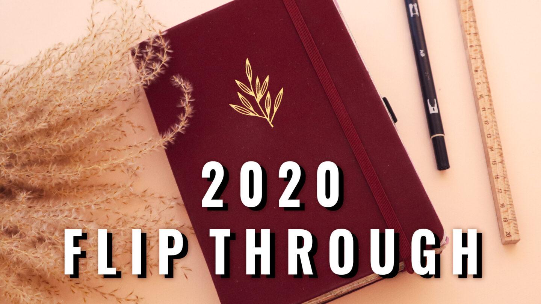 BULLET JOURNAL 2020 FLIP THROUGH