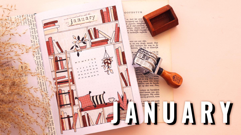 READING BOOKS ★ BULLET JOURNAL THEME ★ JANUARY 2021